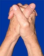 Do you clasp your hands right over left or left over right?
