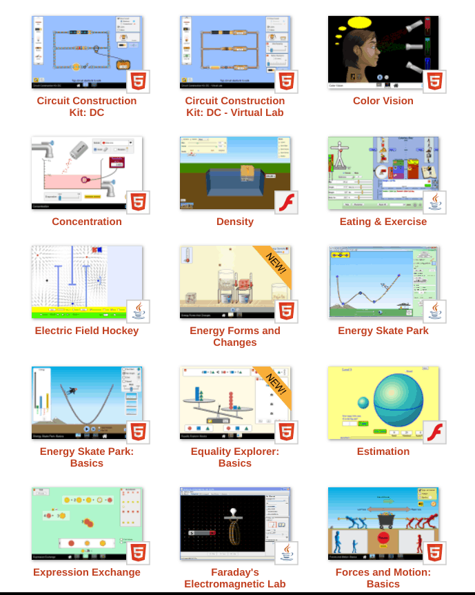 PhET has a wealth of simulations in physics