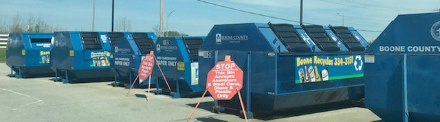 One of our county recycling drop-off centers
