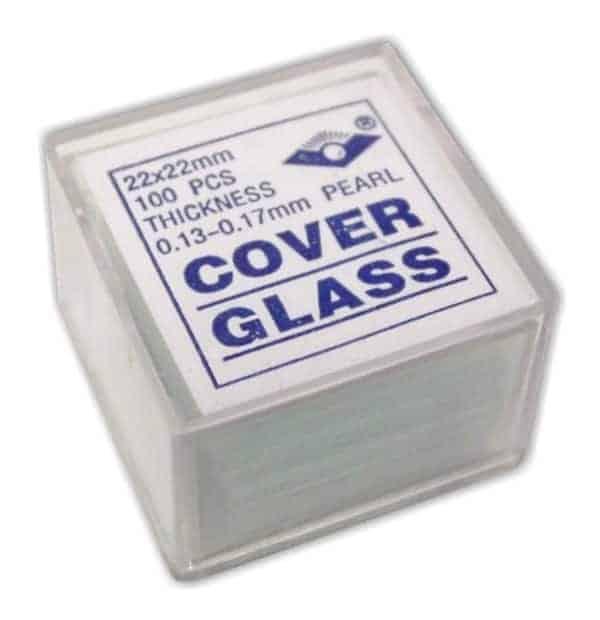 Cover glasses for microscopy