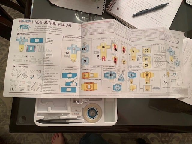 Assembly instructions for the Foldscope