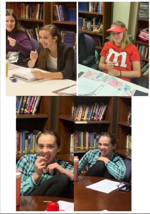 Students tasting PTC paper to study genetics