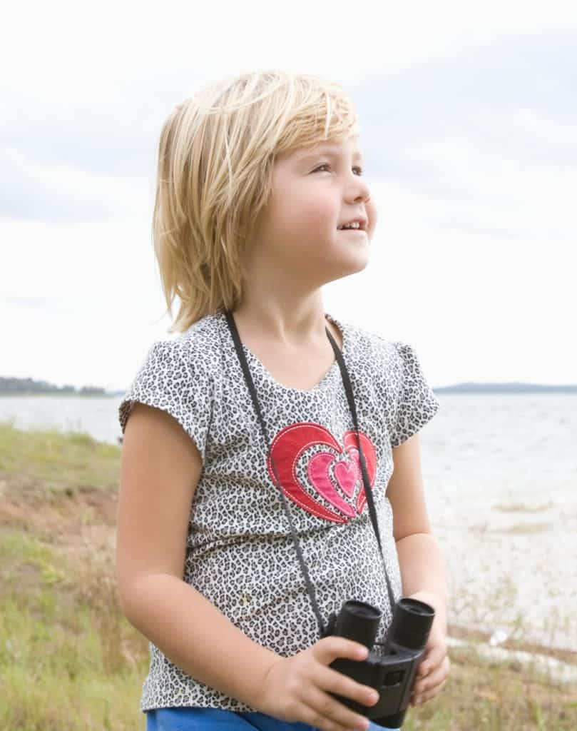 A set of binoculars is a wonderful gift to help your child explore nature