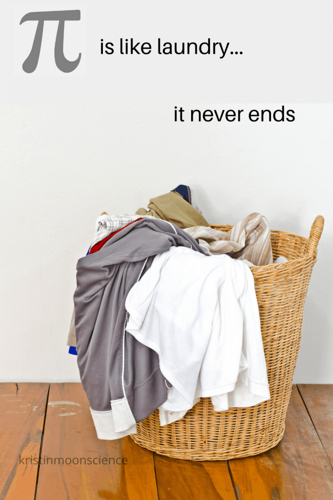 Like your laundry pile, pi never ends.