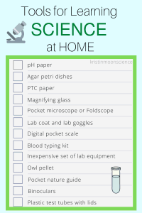 Tools for Learning Science at Home