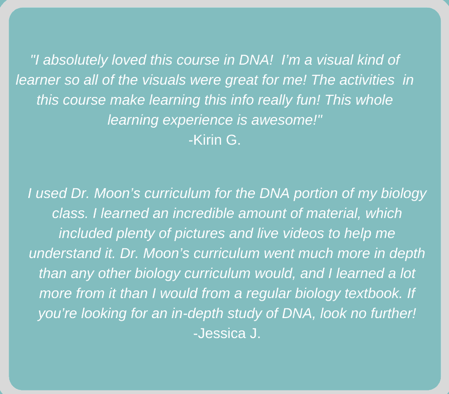 Student reviews of DNA: The Alphabet of Life self-paced online course