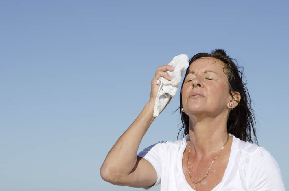 When our body temperature is elevated, we need a way to cool down. That's one reason we sweat